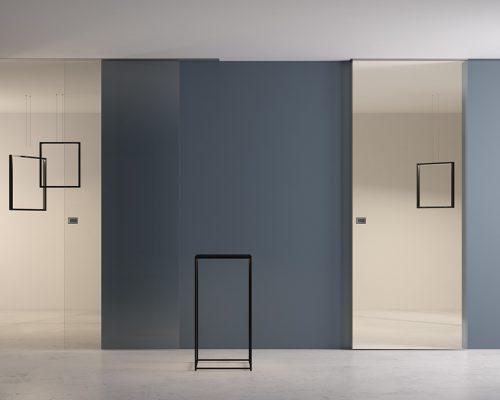 Porte in vetro Garofoli sistemi scorrevoli_filomuro wall_cu