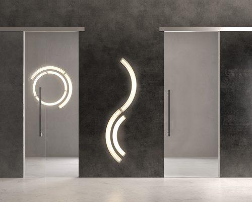 Porte in vetro Garofolisistemi scorrevoli_nano_Berneschi_Arezzo