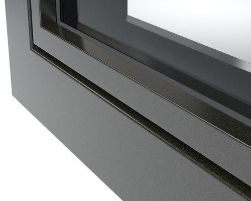 Profilo di una finestra in alluminio colorato Finstral negozio di Arezzo 3