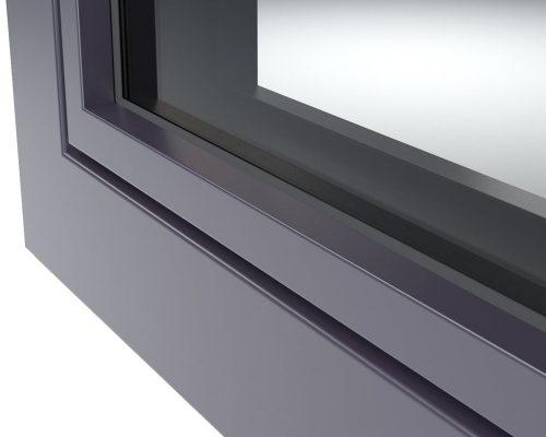 Profilo in alluminio colorato finestre Finstral in PVC Arezzo 5