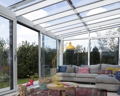 Veranda Finstral con ampie vetrate Berneschi Studio partner Arezzo