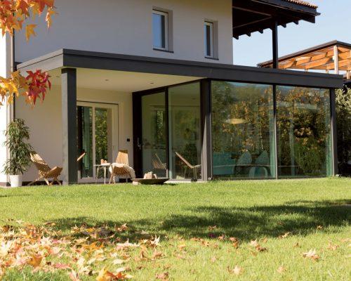 Veranda Finstral da vivera in estate e inverno infissi Arezzo