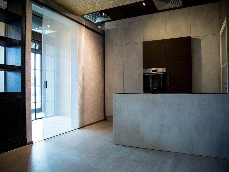 Cucina e porta vetrata Garofoli Berneschi Infissi Arezzo