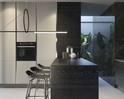 Cucina parete orientabile_PART VERT ISOLA