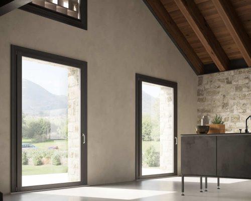 Finestra-unica-serramento-legno-alluminio-Berneschi-infissi-Arezzo