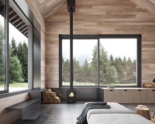 Porta-finestra-clima-plus-alzante-scorrevole-legno-Berneschi-Infissi Arezzo