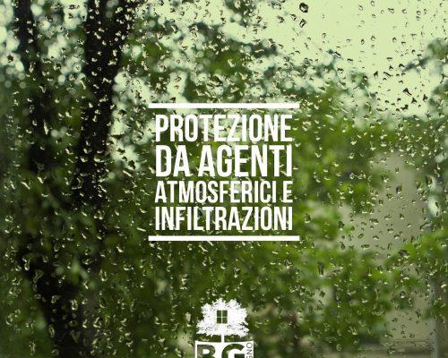 Protezione da pioggia e infiltrazioni. serramenti in legno e legno alluminio