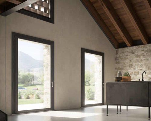 Unica-finestre-legno-alluminio-Sistema-Berneschi-Arezzo