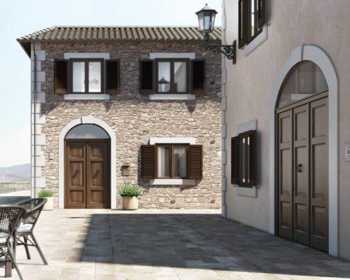 Villa-con-persiane-legno-Berneschi-infissi-Arezzo