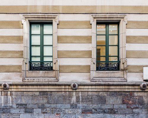 Finestre condominio centro storico il alluminio e PVC Berneschi Arezzo