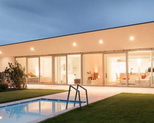 Pareti vetrate in alluminio per case isolate e ville negozio di infissi Arezzo