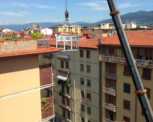 Salita ai piani Berneschi infissi di Arezzo