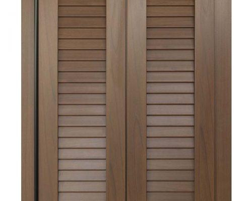 Persiana in alluminio Eurall UNA SYSTEM effetto legno con cerniera nera