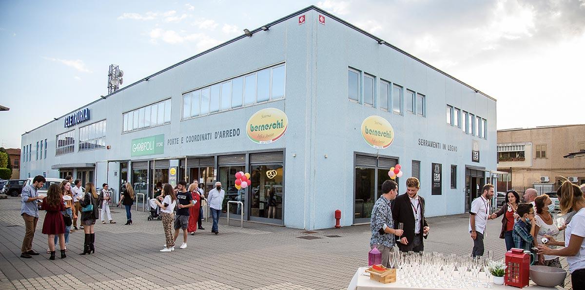 Inaugurazione Berneschi Garofoli Store e BG Legno Factory Store a Case Nuove di Ceciliano Arezzo
